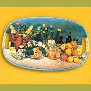 Rad 70's vtg dinner party tray